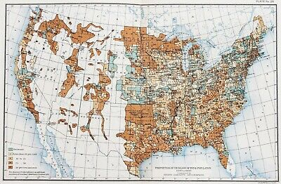 1900 United States Map Census Population Increase Texas Great Lakes Colorado