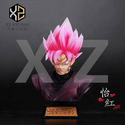 Super DRAGON BALL Z Black Son Goku Somersault DBZ Vegetto Potara Resin Figure
