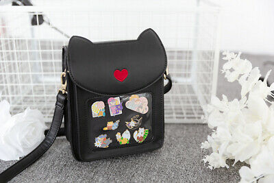 Original Cute Cat Ears Metal Badge itabag backpack Messenger Shoulder Bag N