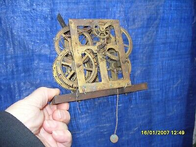 Clock Parts Ogee Usa  Movement  On Seat Board  Spares  To  Repair Striking