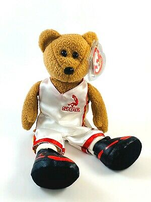 TY SHAQ the BEAR BEANIE BABY BEST GIFT/' /'KNOWLEDGE MINT with MINT TAG