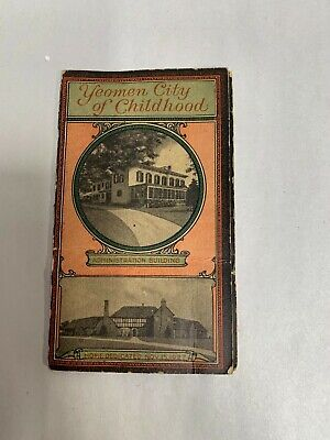 Vtg Antique Yeomen City Childhood Fraternal Advertising Sewing Needle Book (A4)
