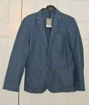 BNWT Boys Next Size 13-14 Years (up to 164cm) Denim Look Blazer *Jacket