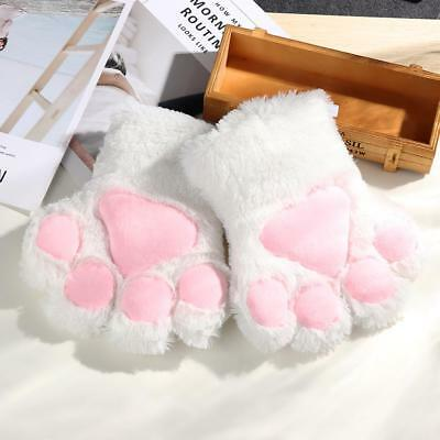 1 pair Women Girls Cute Cat Warm Gloves Soft For Halloween Party Accessories