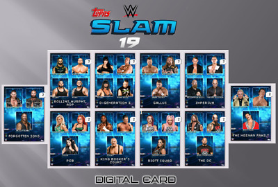 2020 FACTIONS & STABLES DROP 2 BASE SET OF 10 CARDS Topps WWE Slam Digital
