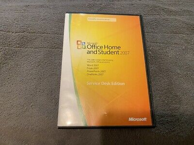 Microsoft Office Home And Student 2007 Service Desk Edition With Key