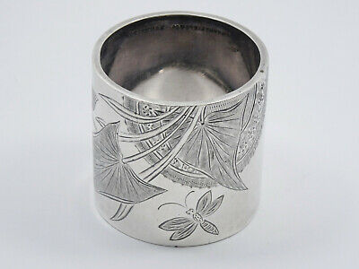 ANTIQUE ENGRAVED A. FRANKFIELD & Co STERLING SILVER NAPKIN RING