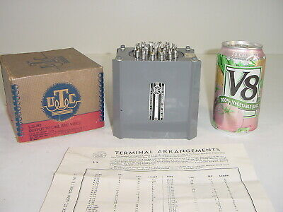 Vintage NOS UTC LS-61 Line & Voice Coil Push-Pull Tube Amp Output Transformer
