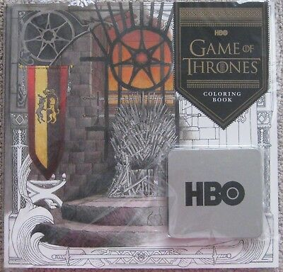 Game Of Thrones Hbo Official Promotional Coloring Book & Pencil Set New Sealed!!