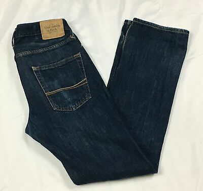ABERCROMBIE FITCH - MENS 30x32- BUTTON FLY REMSEN LOW RISE SLIM STRAIGHT JEANS
