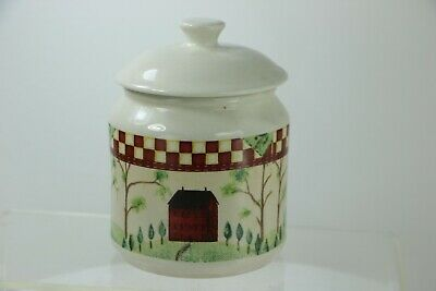 Small Canister Sugar Bowl Country Home by Thomson Red Check Design 2002