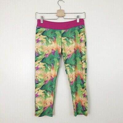 Under Armour UA Cropped Leggings Girls Size YXL Youth XL Tropical Capri Floral