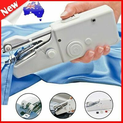Mini Portable Handheld Cordless Sewing Machine Hand Held Stitch Home Clothes UN