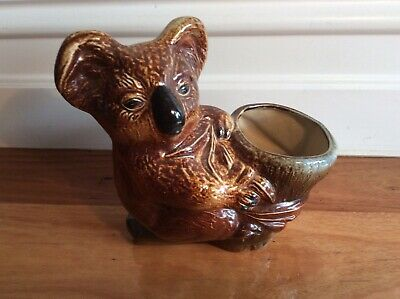 BENDigo pottery KOALA planter / Pot Plant Holder