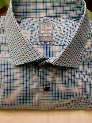 Ike Behar-Italy Canali Super 150'S Lapis Blue Check D/S-$265-17.5