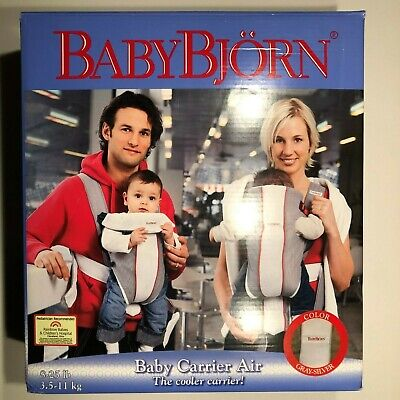 NEW Baby Bjorn Baby Carrier Mesh One Air White Gray Red 0+ 8-25lbs