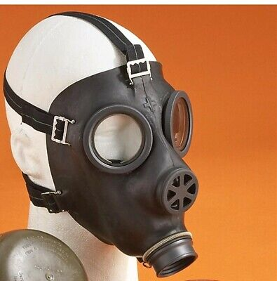 Swiss MILITARY NBC 40 mm Gas Mask/Respirator (NO FILTER) Unissued New/Old stock
