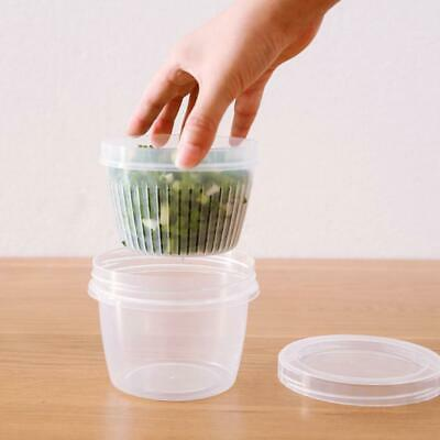 Draining Clear Storage Boxes Food Sealed Crisper Kitchen Multi-Functional Tool