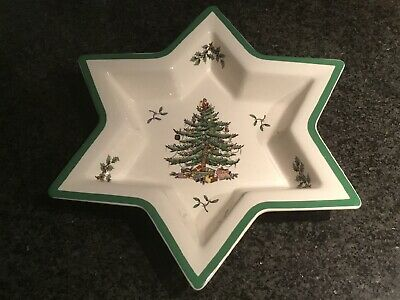 Spode Christmas Tree LARGE STAR SHAPE BOWL / DISH - 1st. Quality