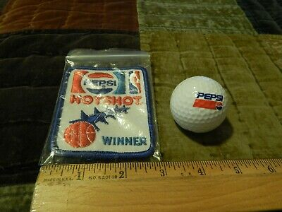 PEPSI-COLA {LOT of 2} NBA Promo ~ Hotshot Winner Patch + Spalding #1 Golf Ball