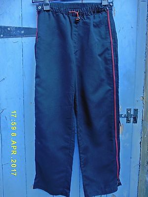 "Girls Shell Trousers Nutshell 8-9y 25.5"" leg. W25-30. Black with red zips on leg"