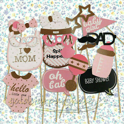 20pcs Baby Girl Photo Booth Props Birthday Baby Shower Party Decoration Gift UK