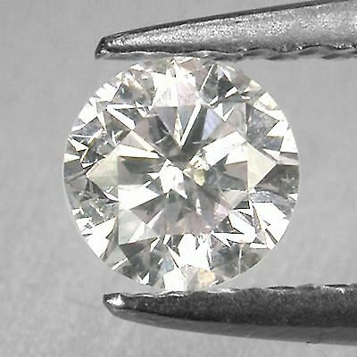 0.19CT Natural Earth Mined White Loose Diamond Round Shape With Free Certificate