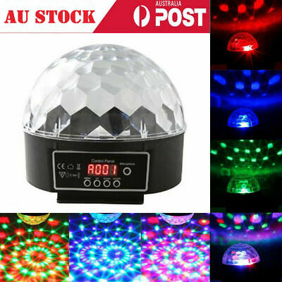 Disco Party Light RGB Stage DJ Laser Lights club Crystal Magic Ball DMX512 New