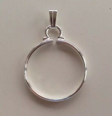 Silver 18mm Coin Cinch/ Holder/ Mount For Jewellery/ Necklaces/ Keyring