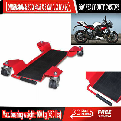 320 kg ConStands Dolly Mover for BMW R 1200 GS Adventure for Centre Stand Mover II max red