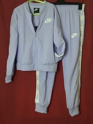 Nike Tracksuit Girls Age 12-13 Years Purple Full Zip Track Top And Joggers