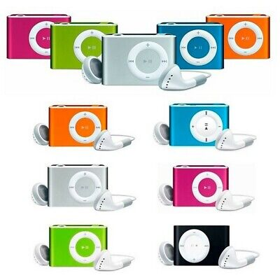 Reproductor Mp3 Mini Music Clip Tipo Ipod Usb Micro Sd Max