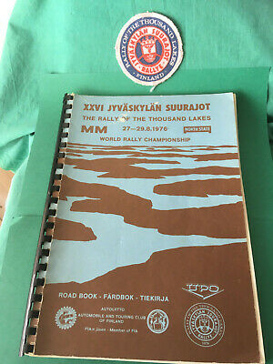 Roadbook 1000-Seen-rallye Finnland, Rallye of the Thousand Lakes 1976