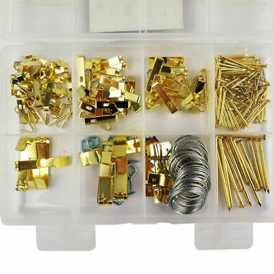200pcs Heavy Duty Picture Hanging Kit With Wire Picture Hook Hangers Assortment