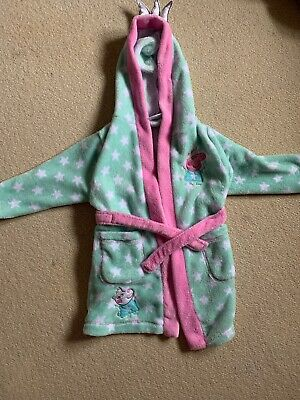 Peppa Pig And Suzie Sheep Girl Mint Green Dressing Gown Age 1-2