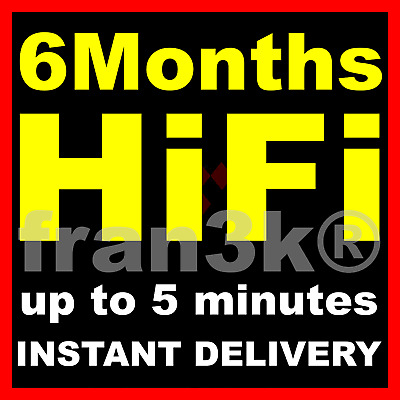 TIDAL Hi-Fi Master || 6 Months GUARANTEED || INSTANT 5 min DELIVERY