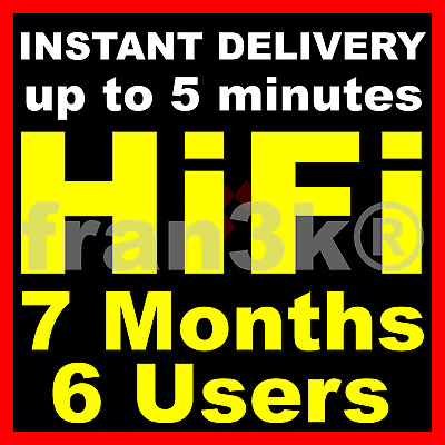 TIDAL Hi-Fi Master FAMILY Plan | 7 Months 6 Users GUARANTEED | INSTANT DELIVERY
