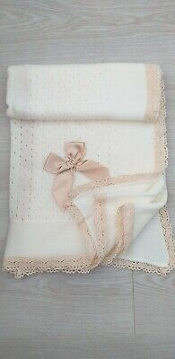 Baby Boys Girl Boxed Juliana Spanish Romany Shawl Blanket Blue or Pink /& Beige