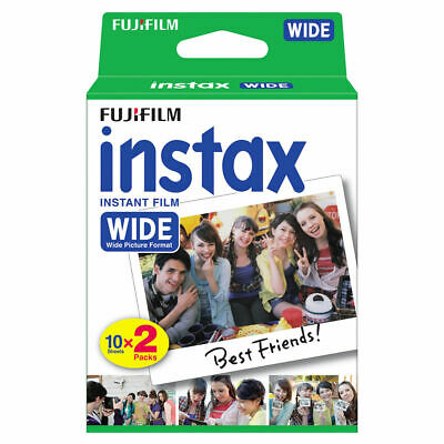 Fujifilm Instax Twin Pack Wide Instant Film Fuji Papers - Pack of 20 Sheets