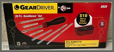 GEARWRENCH® GearDriver™ 8939 39 Pc. Ratcheting Screwdriver Set w/Case