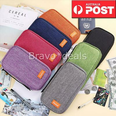 Family Passport Holder Document Organizer Cards Wallet Pouch Money IDs RFID AU