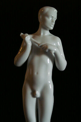 Very Rare Herend Hungary Male Nude Boy With Flute In Top Condition