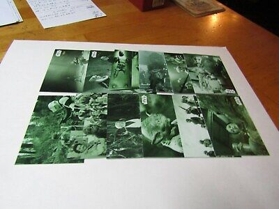 STAR WARS B&W RETURN of the JEDI  GREEN HUE PARTIAL SET 125 CARDS. NEED 8  #/99