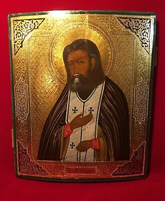 St Seraphim of Sarov Antique Russian Icon