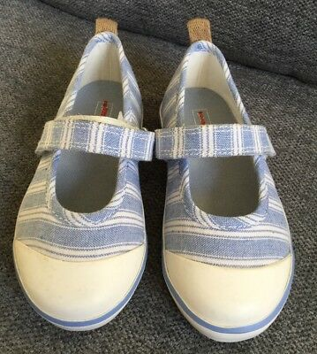John Lewis Girls Sandals Infant 7 Canvas Mary Janes Summer Casual Holiday