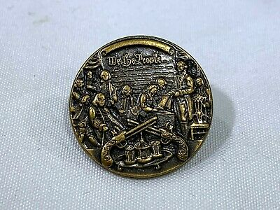 We The People Declaration of Independence Lapel Hat Tie Pin SN