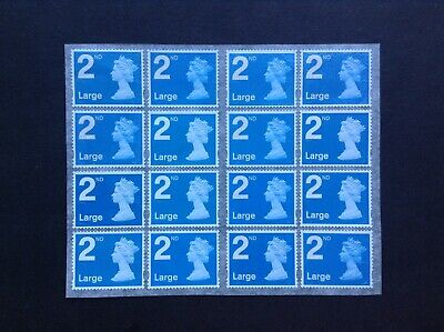 16 2nd Class Large Unfranked Security Stamps Self Adhesive Easy Peel