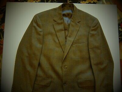 40R Gianfranco Ruffini Dark Brown Tweed Wool 2Btn Mens Sport Coat Blazer