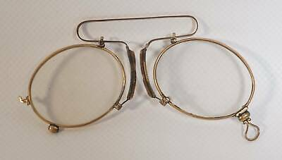 True Vintage antike Zwickel Brille in Goldoptik Kneifer Sammler Optiker