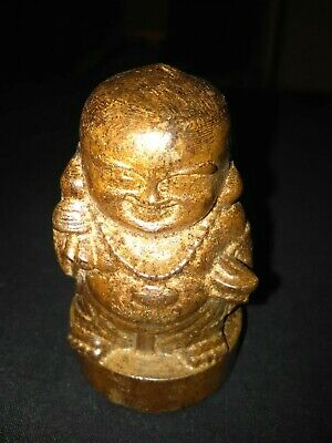 Antique Chinese Hand Carved Wood Wooden Buddha Buddhist Statue Figure Ornament